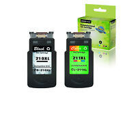 2pk Pg210xl Cl211xl Black And Color Ink Cartridge Fit For Canon Pixma Ip2702 Mp280