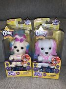 Little Live Pets Omg Dog Pup 4 Tall Squeeze Tummy Sing 2019 Moose Lot Of 2