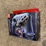 New Nintendo Switch Pro Controller Monster Hunter Rise Edition Wireless