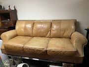 Vintage Natural Leather 8ft Sofa From Sportsman Store Andmdash- Rrl Couch