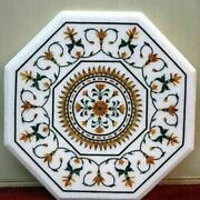 2and039x2and039 Table Marble Inlay Top Pietra Dura Garden Antique Coffee Dining Decor W91