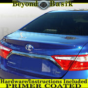 For 2015 2016 2017 Toyota Camry Factory Style Spoiler Lip Wing Primer