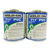 Weld On 711 Pvc Gray Pipe Cement 32 Oz Exp. Date 10/20 2-cans