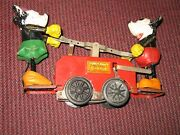 Lionel Minnie And Mickey Mouse Famous Handcar, Prewar, Windup, 0 Gauge Antique Toy
