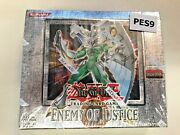 Ygo - Factory Sealed English Language 1st Ed Enemy Of Justice Booster Box