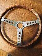 Les Leston Teak Style Steering Wheel For Porsche 356 B/c Models Polished