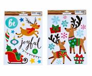 The Happy Holiday Christmas Window Cling Decorations - Choose Style - Christmas