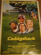 Caddyshack Signed Movie Poster 7 Sigs Coa Autographed W/ Dangerfield And Knight