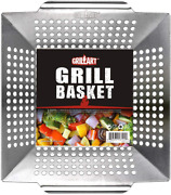 Grill Basket For Vegetables And Meat Large Grill Wok Pan Veggie For Bbq And Smokers