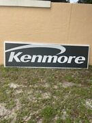 Huge Vintage Sears Kenmore Lighted Sign From Closed Sears Store - 3' X 8'