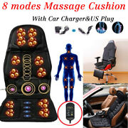 8 Mode Massage Seat Cushion With Heated Back Neck Massager Chair For Home And Car