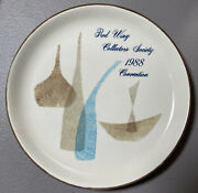 Red Wing Collectors Society 1988 Commemorative Pompeii Dinnerware Plate 6 Inches