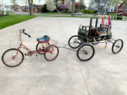 Victorian S.r. Bailey Wagon Pony Mini Horse Drawn Carriage Tricycle And Yoke