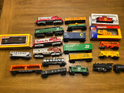 Huge Lot Ho 21 Trains Lifelike - Locomotives Cabooses Tankers Country Freight