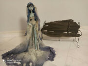 Tim Burtonand039s Corpse Bride Emily And Bench Set Rare Collectible Doll By Jun Plannin