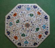 2and039x2and039 Table Marble Inlay Top Pietra Dura Garden Antique Coffee Dining Decor W98