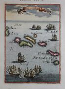 The Azores - Isles Acores By Mallet 1683.