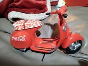 Vintage 1995 Cocacola Die-cast Model Pedal Vechicle Limited Edition Red Scooter