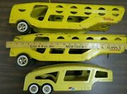 2 Tonka Car Carrier Trailers - 1 Structo - Only For Restore Or Parts Sold As-is