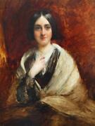 C1842 Portrait Queen Victoriaand039s Lady Of The Bedchamber Mary Ames Oil Painting