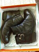 Baretraps Wide Width Black Booties 8.5 Ankle Boots In Box