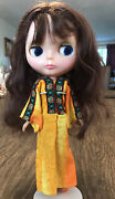 Vintage 1972 Kenner Blythe Doll Working Color Change Eyes Brown Hair Has Shoes