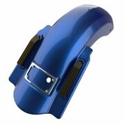 Superior Blue Dual Uncut Dominator Stretched Rear Fender Fits 14+ Harley Touring