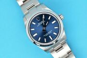 2020 Midsize Rolex Oyster Perpetual 31 Blue Dial Stainless Steel 277200 Watch