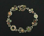 Patricia Locke Silver Plate 7 5 Bracelet Thicket Crystals Nwot