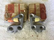 1955 Ford Nos Door Latch Striker Plates + Lincoln Mercury L-r