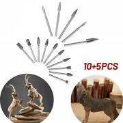 15pcs Wood Carving Tools Engraving Drill Bit Set And Rotary Burr Diy Woodworking