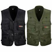 50xmenand039s Fishing Vest With Multi-pocket Zip For Photography / Hunting / Travel