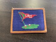 Lacc Needlepoint Card Case Wallet Smathers And Branson Los Angeles Country Club