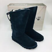 Bearpaw Womenand039s Phylly Lace-up Cold-weather Boots Size 9m Navy