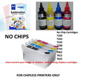 Chipless Empty Cartridges For Epson 100 Sub Papers 400 Ml Sublimation Ink