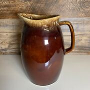Vintage Hull Pottery Brown Drip Large 9 Pitcher/carafe, Oven Proof Usa Hu3