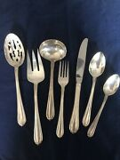 New Gorham Vintage Melon Bud Silver Plated Flatware And Hostess Set