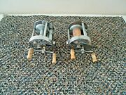 Vintage Lot Of 2 Pflueger Trump No.1943 Fishing Reels Great Collectible Lot