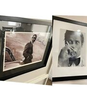 Sean Connery And Roger Moore Signed James Bond 007 Autographs framed Prints Coa