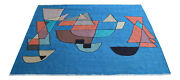 Paul Klee Sailing Boats Inspired Hand Woven Silk Area Rug Wall Rug 4andprime7andprime X 5andprime12andprime