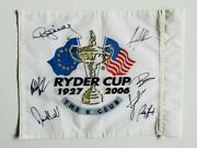 Team Europe Signed 2006 Ryder Cup The K Club Golf Flag / Coa