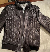 Gianfranco Ferre Bomber Lamb Leather .designed Andmade In Italy. Sale 199 Off-79