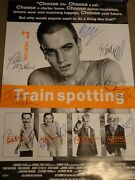 Super Cool Trainspotting 1996 Signed Movie Poster 9 Sigs Mcgregor And Boyle