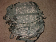Us Military Acu Molle Ii Large Rucksack W/ Frame, Kidney Pads And 2 Pouches New