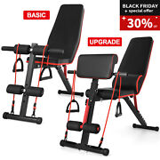 Adjustable Dumbbell Weight Bench Full Body Workout Folding Incline Decline Gym
