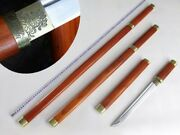 Set Hand Forged Carbon Steel Chinese Kung Fu Sword Tang Dao Very Sharp Knife