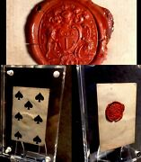 Museum Quality Historic Antique Playing Cards Authentic Wax Seal Crest Artifact