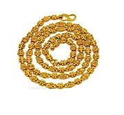 Hallmark 22 Kt Yellow Gold Customized Indian Unique Style Chain For Men's Gift
