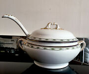 Booths Silicon China Tureen Serving Dish With Lid Original Ladle Limoge Design