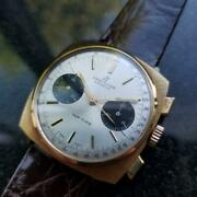 Mens Breitling Top Time 36mm 1970s Gold Plated Hand-wind Chronograph Lv444brn